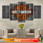 Motor Harley Davidson Cycles, 5 Panel Canvas HD Prints Wall Art Home Decor $31.97 CAD on eBay