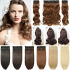 50cm in inch - 3Pcs Real Natural Full Head Hairpiece Clip In Hair Extensions Long As Human 20