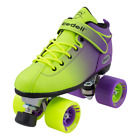 Riedell 2 Tone Dart Green & Purple Ombre Quad Roller Speed Skates