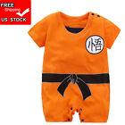 Baby Boys Dragon Ball Z Romper Newborn Goku Costume Infant Summer Short Sleeve
