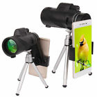 US Cell Phone 40X60 Monocular HD Zoom Telescope Telephoto Camera Lens +Holder