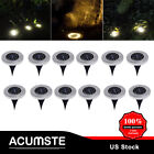 10Pcs 12LED Under Ground Solar Decor Buried Light  for Outdoor Garden Path Way