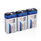 EBL 280/600mAh 9V 6F22 Rechargeable Batteries + 9 Volt Ni-MH Charger for MIC RC