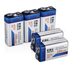 EBL 280/600mAh 9V 6F22 Rechargeable Batteries For Toy RC Smoke Alarm / Charger