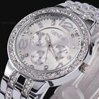 Women's Men Geneva Bling Stainless Steel Quartz Rhinestone Crystal Wrist Watch image