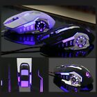 FREE WOLF Wired LED 4000DPI Optical Usb Pro Gamer Gaming Mouse Metal Plate QQ