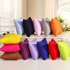 Square Cushion Sofa Car Cotton Solid Colors Throw Pillow Case Cover Home Decor image