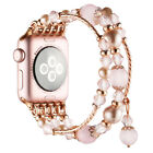 Beaded Elastic Bracelet Band For Apple Watch 42/38mm Women Replacement Strap US image