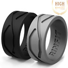 Men Silicone Ring | Wedding Band - 2 Rings Pack- Rinfit