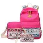 women school travel casual Rucksack Canvas backpack shoulder Messenger bag sets