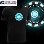 LED Tee shirt Iron Man Arc Reactor Tony Stark Avengers Thor Hulk Black T-shirt image