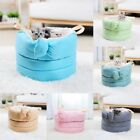 New Cute Japanese Contracted Bowknot Deep Sleep Puppy Dog Cat House Kennel Bed