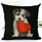 Pet dogs & cat Christmas cushion cover linen/cotton sofa pillow cover home decor