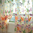 US Cafe Window Curtain Floral Polyester Voile Pastoral Lace Cafe Curtain Decor