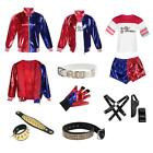 Harley Quinn Costume Halloween Suicide Squad Cosplay Outfit Set for Women Adult