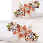 New Alloy Hair Clip Oil Painting Flower Shape Top Clip Hot B