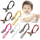 Leather Pacifier Clip Chain Nipple Dummy Clip Pacifier Holder Braided Binky Clip