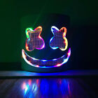 LED Marshmello DJ Mask Helmet Cosplay Costume Halloween Party Props Bar DJ toy>