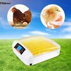 56 Egg Incubator Digital Auto Turner Chicken Poultry Bird Quail Clear Hatcher
