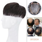 PU front SWISS LACE 100% human hair replacement system short toupee for men