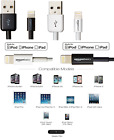 Amazon Basics Apple Certified Lightning To USB Cable all sizes White & black