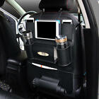 Multi-functional PU Leather Car Back Seat Storage Bag Multi Pocket Phone Cup Hol