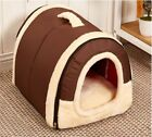 Dog Soft Bed Cushion Pet Kennel Tent House Warm Foldable Cat  Puppy Cave Pad