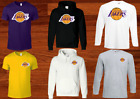 LOS ANGELES LAKERS T SHIRT HOODIE BASKETBALL PLUS SIZES S-5XL TEE 14