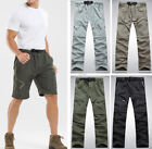 Men's Pants Quick Dry Zipper Off become Shorts Hiking travel womens Trousers
