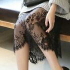 Women Ladies Sexy Floral Lace See Through Sheer Dress Long Strappy Underdress