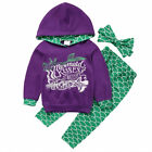 Cute Kids Baby Boys Girls Floral Camo Hooded Hoodie Outfits Set Clothes US Stock