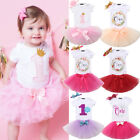 Внешний вид - First 1st Birthday Baby Girl Romper Tulle Tutu Skirts Dress Outfits Clothes Sets