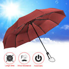 Внешний вид - Wind Resistant Folding Automatic Umbrella Rain Big Rain Parasol Umbrella