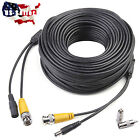 50FT/100FT/150FT RCA BNC CCTV Security Camera Power Cable Video Monitor Wire NEW