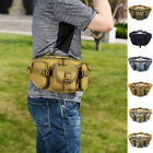 Men Tactical Military Waist Bag Hiking Belt Fanny Chest Multifunction Pouch US