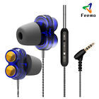 Super Bass Dual Dynamic Driver Stereo In Ear Earphones Noise-cancelling Earbuds