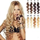 "16""-30"" Wavy Weft Womens Remy Human Hair Extensions Body Tape In Skin 20Pcs 50g"