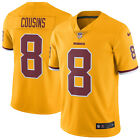 Redskins #8 KIRK COUSINS Gold Limited Jersey SEWN XL 2XL NWT NEW Color Rush XXL