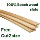 Birch Wood Sprung Bed Replacement Slats Single Double King 25 35 50 mm wide ECO