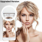Selfie Portable LED Ring Light Flash Phone Light For Sumsung HTC LG HUAWEI USA