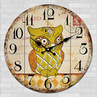 Owl Birds Cartoon Wall Clock Home Nursery Kids Room Decor Kitchen Bar