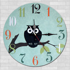 Owl Bird Retro Wall Clock Kindergarten Home Kitchen Bar Decor