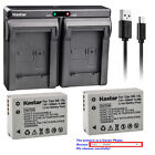 Kastar Battery Dual Charger for Canon NB-10L NB-10LH NB10LH & Canon CB-2LC CB2LC