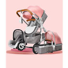 Baby Stroller 3 in 1 High view Pram foldable pushchair&Car Seat Luxury carriage
