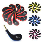 10 Pcs Neoprene Zippered Golf Club Iron Putter Headcover Head Cover Protect Case