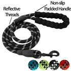 5 FT Strong Dog Rope Leash Lead Training Padded Handle Reflective Threaded Nylon
