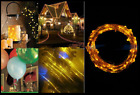 10-100 LEDs Christmas AA Battery Copper Wire String Lights Party Xmas Tree Decor