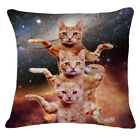 Universe Starrry Cat Throw Pillow Case Home Decor Cushion Cover Square