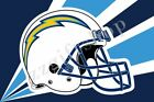 NFL Los Angeles Chargers Flag Logo Column Helmet Wordmark 5X3FT 6X4FT Polyester