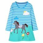 Winter Baby Girls Dress Fox Pattern Long Sleeves Children Clothings Outfit Suits